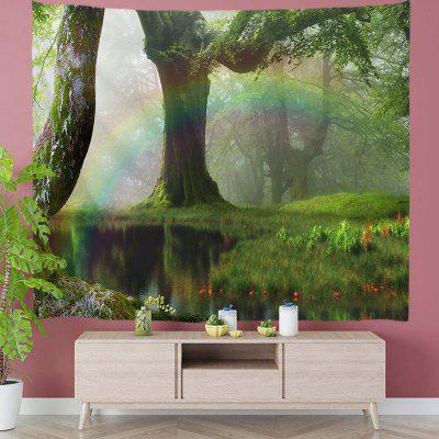Fantasy World Green Tree Tapestry