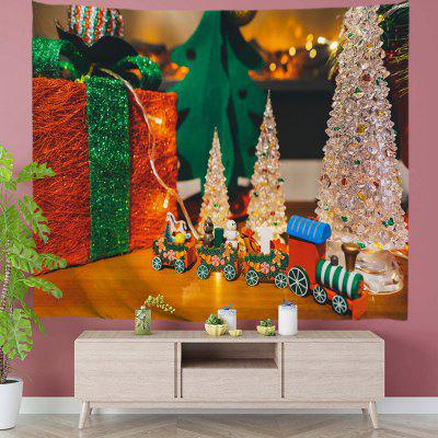 Christmas Train Filled with Gifts Digital Print Tapestry
