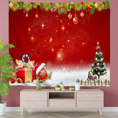 Christmas Gift and Tree Pattern Tapestry Digital Print Wall Background