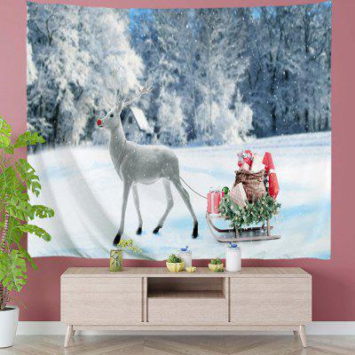 Reindeer with Christmas Presents Digital Print Tapestry