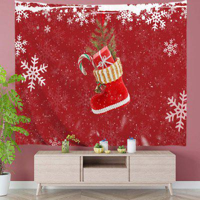 Boots Filled with Christmas Gifts Digital Print Tapestry