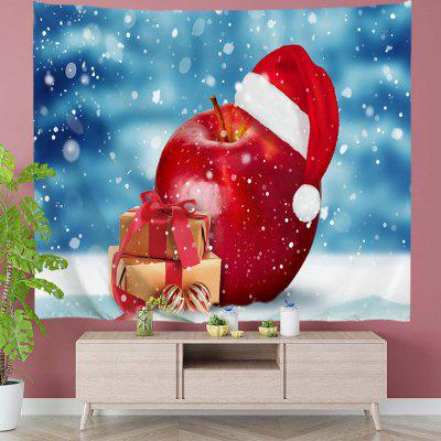 Red Fruit with Christmas Hat Digital Print Tapestry