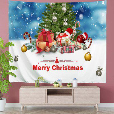 Christmas Tree with Presents Digital Print Tapestry