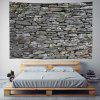 Stone Wall Digital Print Background Tapestry - MULTI-A