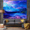 Fantasy Blue Nebula Digital Print Background Tapestry - MULTI-A