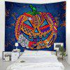 Halloween Pumpkin Pattern Background Wall Tapestry - RED