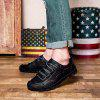 SENBAO Men's Casual Breathable Outdoor Lace-up Hand Stitching Shoes - BLACK