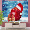 Red Fruit with Christmas Hat Digital Print Tapestry - MULTI-A