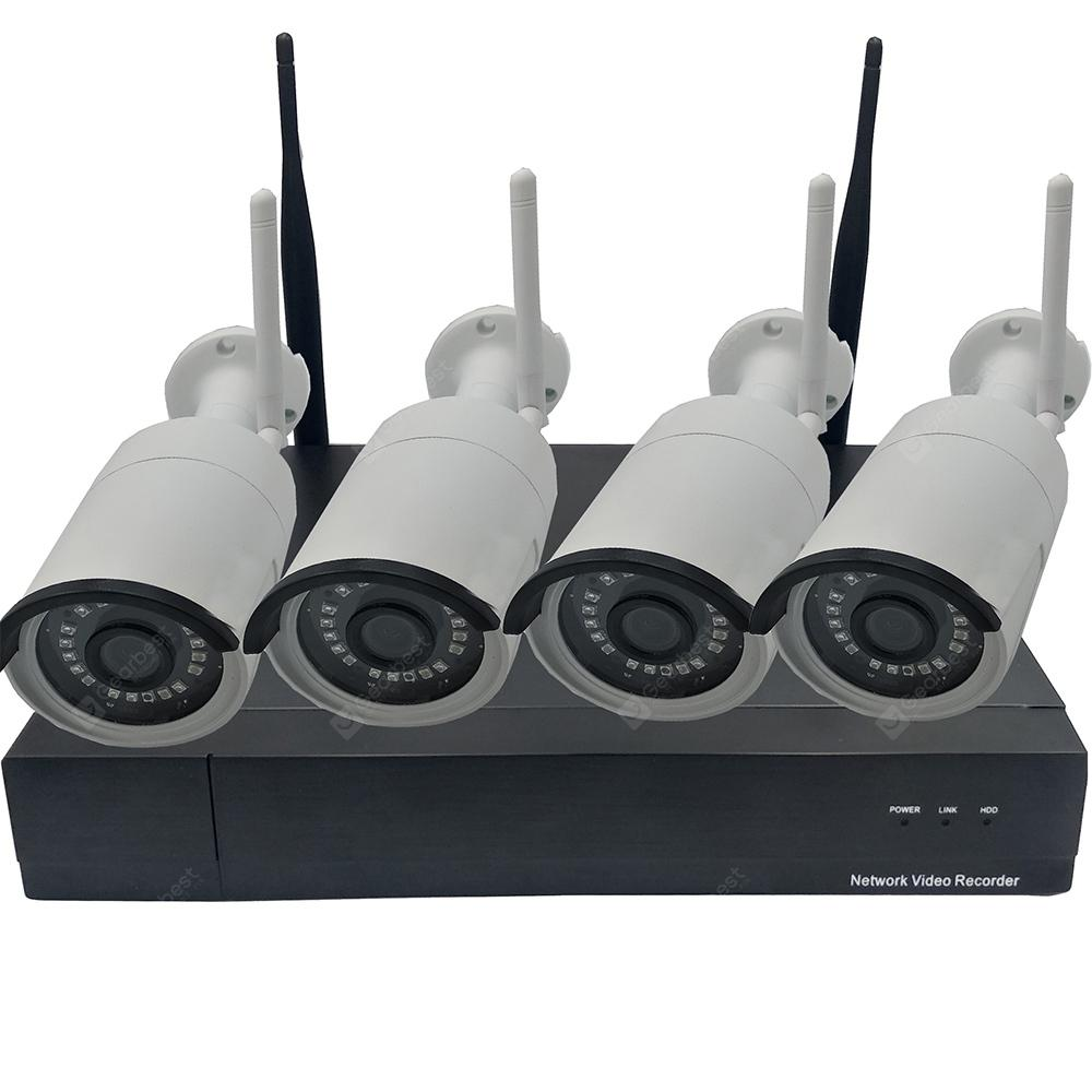 Stalwall NVR4008S - A13 KIT WIFI 8CH 1080P HD WiFi NVR 2MP IP Cameras Wireless Security Cameras System - Black