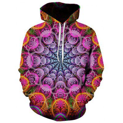 Men's Hoodie 3D Geometric Vortex PatternComfortable Clothing