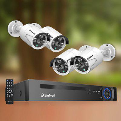 Stalwall N1 H.265 Outdoor Vodotěsné Home CCTV Video Surveillance NVR 8CH 1080P 2MP POE Security Kit Camera