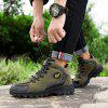Men's High-top Hiking Shoes Casual Comfort Round Toe - DEEP GREEN