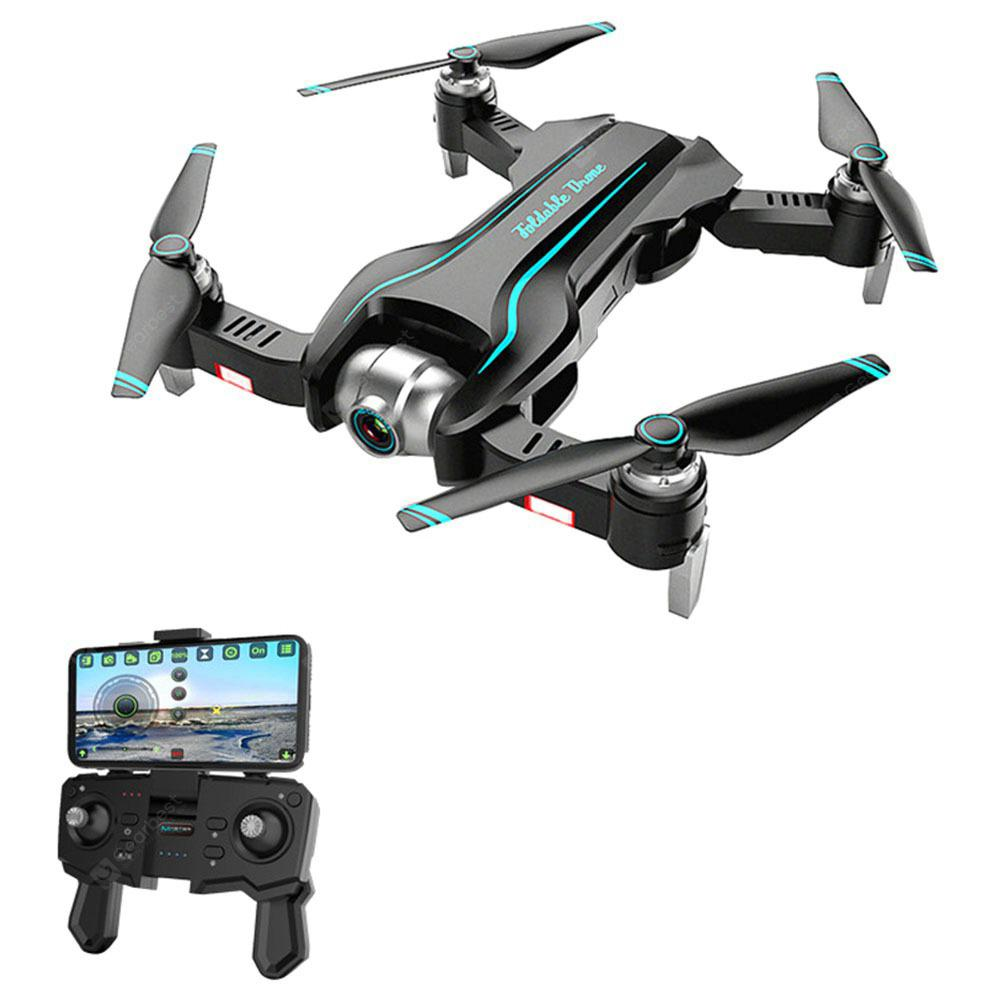 S17 2.4G WiFi Foldable RC Quadcopter With Dual Camera Switchable RTF - Black 4k