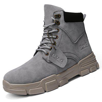 AILADUN Men's High Top Martin Boots Retro Workwear Tide Shoes