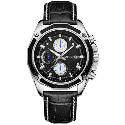MEGIR 2015 Fashion Men Watch Multi-function Sports Waterproof Style