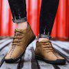 SENBAO Men's Solid Color Retro Lace-up Ankle Boots Anti-collision Toe - SANDY BROWN
