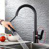 Kitchen Pull-out Faucet Hot / Cold Sink Telescopic Type 304 Stainless Steel Material - BLACK