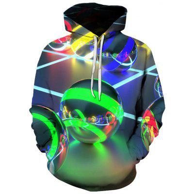 Men's Cool Creative Color Marbled Print 3D Hoodie Sweater