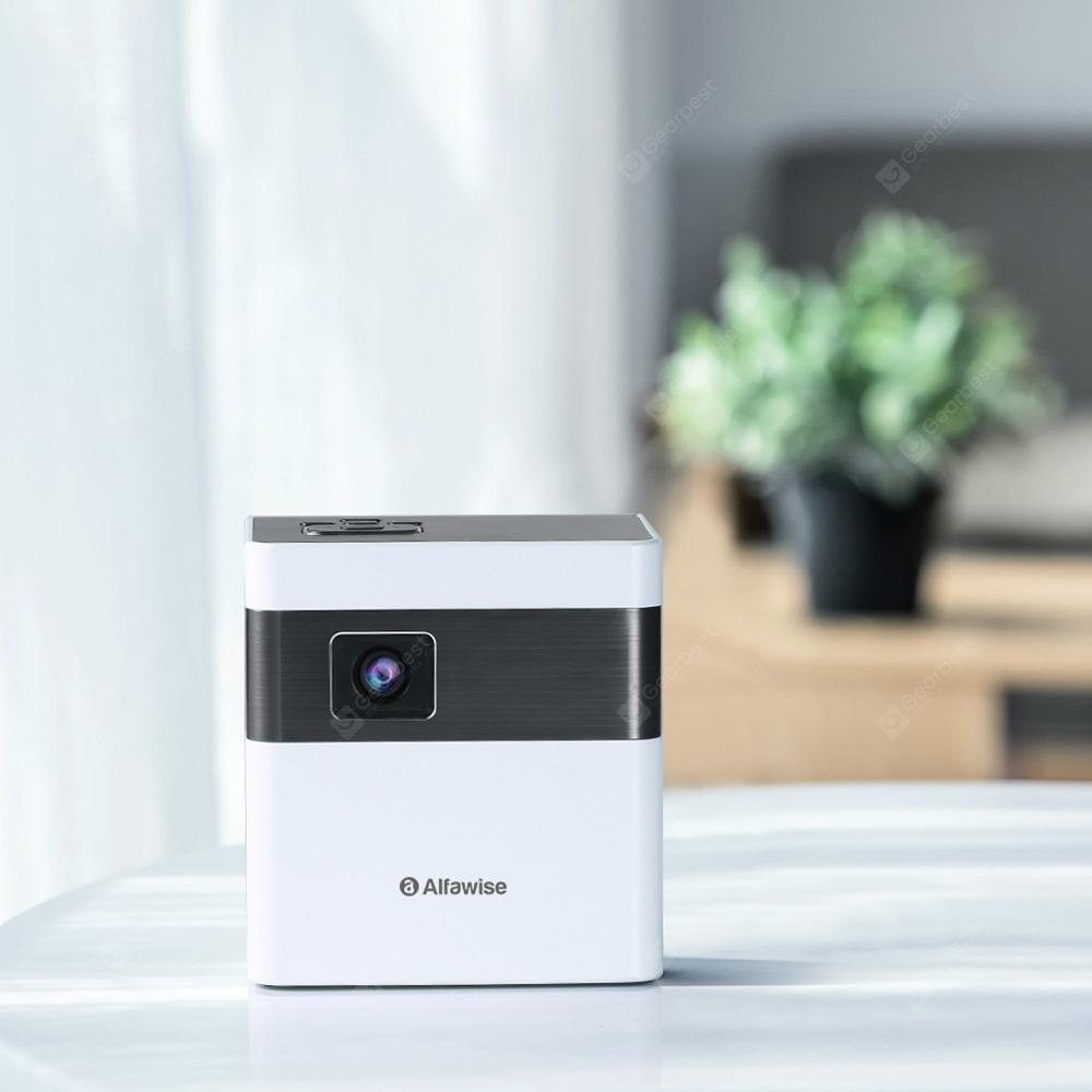 Alfawise D2 3000 Lumens Smart Projector Mini Size Support WiFi EU Plug - Warm White