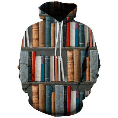Men's Personality Design Book Printing 3D Hooded Clothing