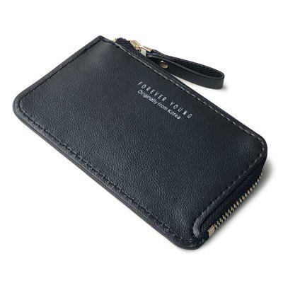 YAJIANMEI LS814 Men's Compact Coin Purse Zipper Wallet Thin for Cards