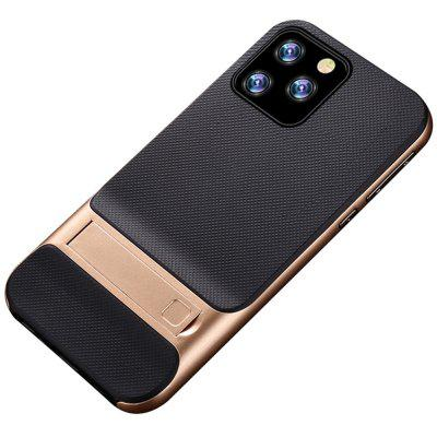 Naxtop 2 em 1 Macio TPU Hard PC Plaid Bracket Caso de telefone móvel para iPhone 11 Pro Max / 11 Pro / 11