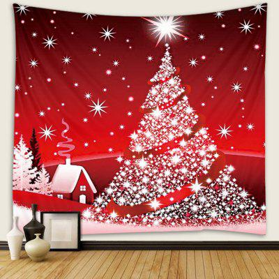 Christmas Tree Pattern Tapestry Wall Background DIY Holiday Decoration