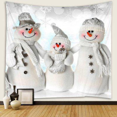 Christmas Snowman Pattern Tapestry Wall Background DIY Holiday Decoration