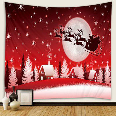 Christmas Flying Deer Pattern Tapestry Wall Background DIY Holiday Decoration