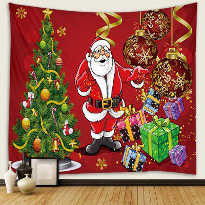 Santa Claus Pattern Tapestry Wall Background DIY Holiday Decoration
