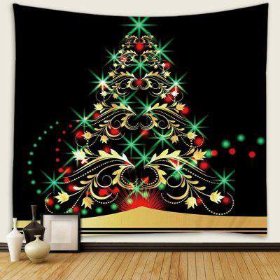 Christmas Tree Pattern Polyester Tapestry Wall Background DIY Holiday Decoration