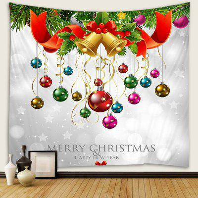 Christmas Balloon Pattern Polyester Tapestry Wall Background DIY Holiday Decoration