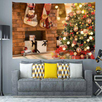 Thick Christmas Pattern Polyester Digital Printing Tapestry Wall Background DIY Holiday Decoration