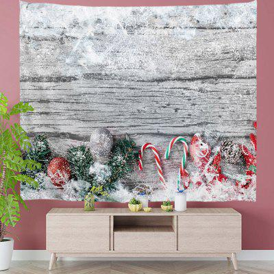 Christmas Gift Covered By Snow On The Floor Pattern Polyester Digital Printing Tapestry Wall Background DIY Holiday Decoration
