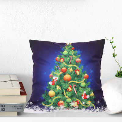 Beautiful Christmas Tree Gift Pattern Polyester Digital Printing Pillow DIY Holiday Decoration