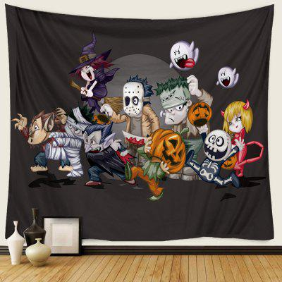 Halloween 3D Creative Pattern Polyester Digital Printing Tapestry DIY Holiday Decoration
