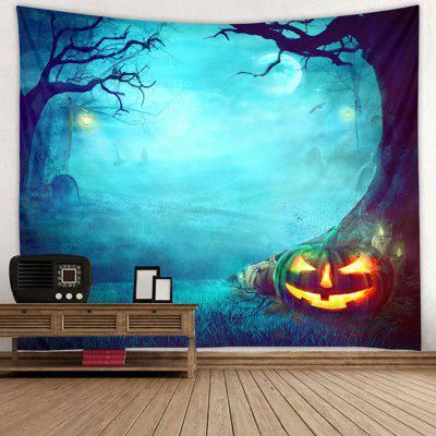 Halloween Forest Pattern Tapestry Polyester Wall Background 3D Digital Printing DIY Decoration