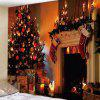 Home Decoration Christmas Tree Door Pattern Tapestry - TIGER ORANGE