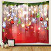 Christmas Light Pattern Polyester Tapestry Wall Background DIY Holiday Decoration - RED
