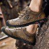 Men's Hand Stitching Lace-up Casual Shoes Anti-collision Toe Outdoor Mountaineering - KHAKI