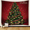 Ribbon Christmas Tree Pattern Polyester Tapestry Wall Background DIY Holiday Decoration - RED