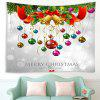 Christmas Balloon Pattern Polyester Tapestry Wall Background DIY Holiday Decoration - WHITE
