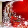Christmas Sleigh Pattern Polyester Tapestry Wall Background DIY Holiday Decoration - RUBY RED