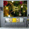 Christmas Tree Lights Pattern Polyester Digital Printing Tapestry Wall Background DIY Holiday Decoration - MULTI-A