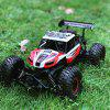 Flytec 6029 20 km / h High Speed ​​Racing Car 2.4GHz 1:16 Off Road RC Crawler - CZERWONY