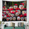 Halloween Ghost Pattern Tapestry Polyester Wall Background 3D Digital Printing DIY Decoration - RED