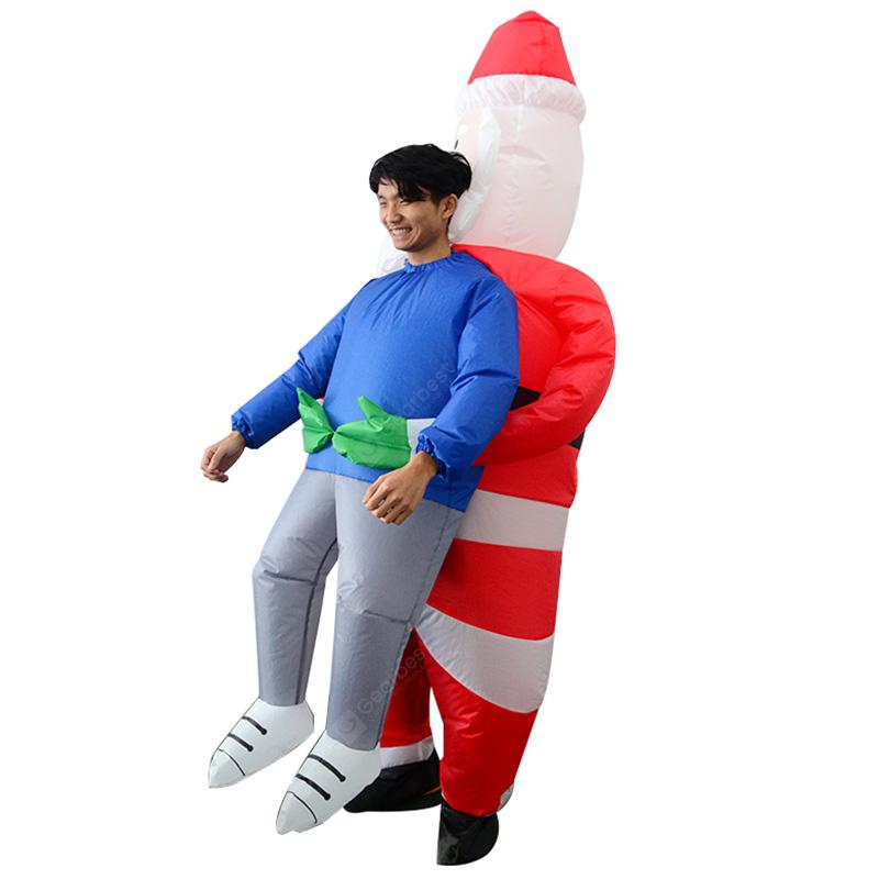 Adult Inflatable Costume Santa Claus Air Blowing Up Clothes Funny Toys