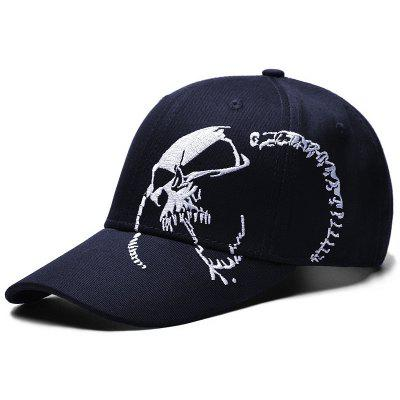 BQ367 Men's Creative Skull Embroidered Baseball Cap Outdoor Sports Sun Hat