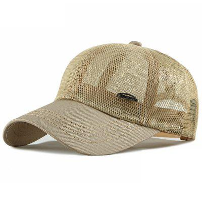 BQ347 Men's Hollow Out Mesh Baseball Cap Breathable Sun Hat