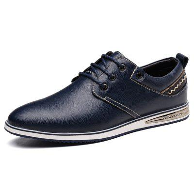 AILADUN Men's British Style Fashion Casual Shoes Lace Up Pointed Toe Design